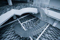 Modern office hall with stairs Royalty Free Stock Image