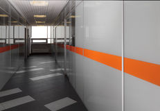 Modern office hallway Stock Images