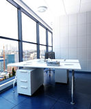 Modern Office in High Rise Building with City View Stock Image
