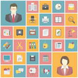 Modern Office Icons Royalty Free Stock Image