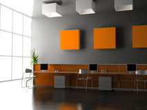 The modern office interior Stock Photos