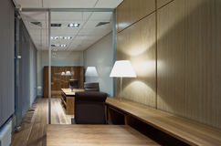 Modern office interior. In a bank