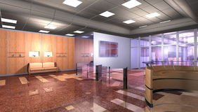 Modern office interior royalty free illustration