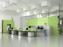 The modern office interior vector illustration
