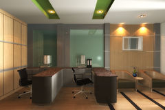Modern Office Interior 3D Royalty Free Stock Image