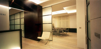 Modern office interior. Photography of modern lawyers office royalty free stock images
