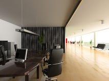 Modern office interior. Modern open office interior(3D rendering