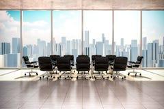 Modern office interior vector illustration