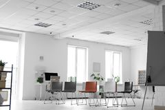 Modern office interior with chairs stock photo