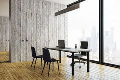 Modern office interior with copy space vector illustration