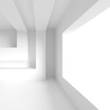 Modern Office Interior Design. White Architecture Wallpaper. Roo Royalty Free Stock Photography