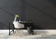 Modern Office Interior with Desk and Chair Royalty Free Stock Photo