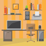 Modern office interior in flat design Stock Photography