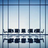 Modern office interior with large windows Stock Image