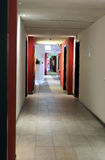 Modern office interior. Perspective of corridor in modern office interior Royalty Free Stock Photography
