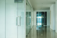 Modern office interior, selective focus on doorknob Royalty Free Stock Photo