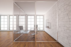 Modern office interior side Royalty Free Stock Photos