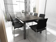 Modern office interior stock photography