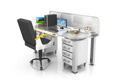 Modern office interior with table with chair Royalty Free Stock Photos