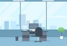 Modern office interior. Vector image royalty free illustration