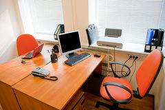 Modern office interior - workplace Royalty Free Stock Photos