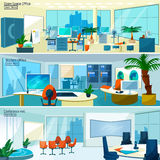 Modern office interiors banners Royalty Free Stock Photo