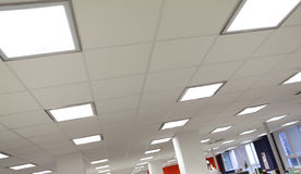 Modern office light. Modern office roof light with posts Stock Photo