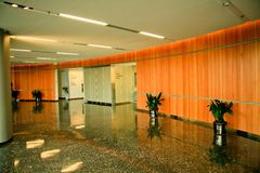 Modern Office Lobby. A corporate lobby leading to offices in a very modern, new office building Royalty Free Stock Images