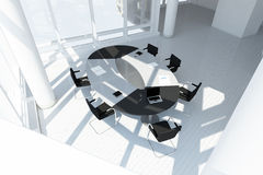Modern office loft top view Royalty Free Stock Image