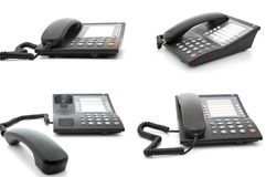Modern office phones pack royalty free stock photography