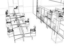 The modern office sketch stock illustration