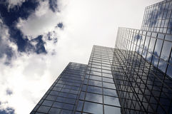 Modern office skyscraper and blue sky Stock Photography