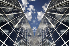 Modern office skyscraper and blue sky Royalty Free Stock Photo
