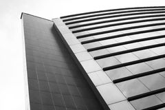 Modern office skyscraper on the sky. Picture of modern office skyscraper on the sky royalty free stock photography