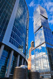 Modern office skyscrapers Royalty Free Stock Image