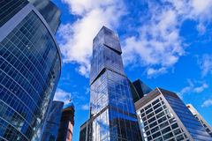 Modern office skyscrapers Royalty Free Stock Photos