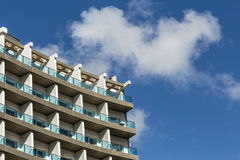 Modern office Skyscrapers on the blue sky with clouds Royalty Free Stock Images