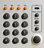 Modern office telephone keypad Stock Image