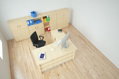 Modern office top view Royalty Free Stock Image