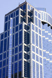 Modern Office Tower with Blue Windows Stock Photography