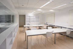 Modern office with white furniture Royalty Free Stock Photos