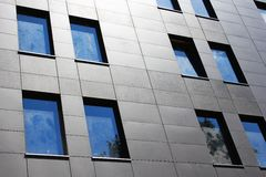 Modern office windows wall Royalty Free Stock Photography