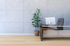 Modern office working room interior with copy space Royalty Free Illustration