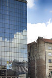 Modern and old architecture. In Belgrade Stock Images