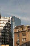Modern and old architecture in Belgrade. Serbia Royalty Free Stock Photo