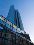 Modern and old architecture in the financial district of Frankfurt, Germany. Fascinating modern architecture in one of the most dynamic business environments in Stock Images