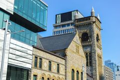 Modern and old architecture in Montreal. Canada Royalty Free Stock Photo