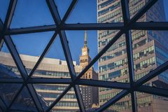 Modern and old architecture of Warsaw Stock Photography