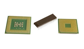 Modern and old CPU Royalty Free Stock Photos