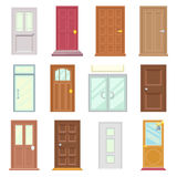Modern Old Doors Icons Set House Flat Design Isolated Vector Illustration Royalty Free Stock Image